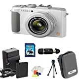 Panasonic Lumix DMC-LX7 Digital Camera (White) Kit Includes: 16GB Memory Card, Memory Card Reader, Extended Life Replacement Battery, Rapid Travel Charger, Table Top Tripod, LCD Screen Protectors, Cleaning Kit & Case