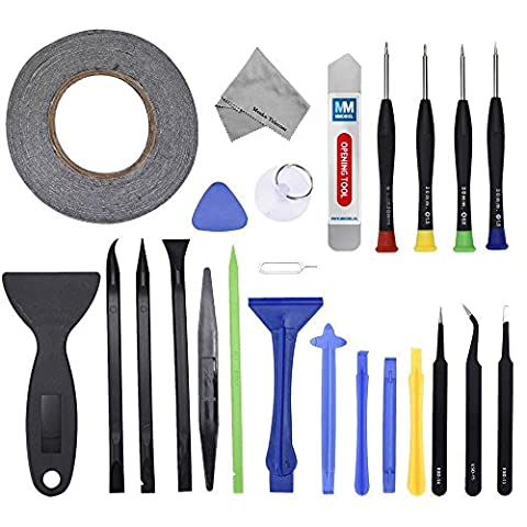 24 in 1 Professional Repair Toolkit Screwdriver set incl 2mm adhesive tape PVC Suction Cup Nylon Spudger for Smartphone iPad iPod PSP NINTENDO MMOBIEL