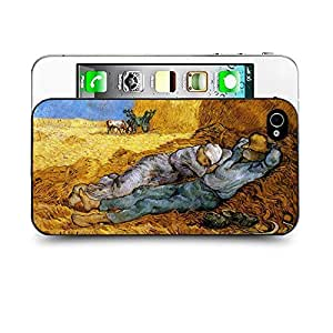 Case88 Designs Van Gaho Art Gallery Oil Painting Collections Noon Rest from Work (after Millet) Protective Snap-on Hard Back Case Cover for Apple Iphone 4 4s