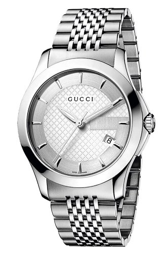 GUCCI Men's YA126401 G Timeless Silver Dial Watch