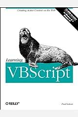 Learning VBScript (Nutshell Handbooks) Paperback