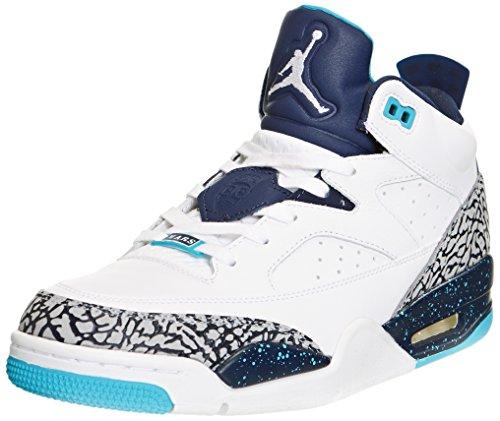 Nike Jordan Men's Jordan Son Of Low White/White/Midnight Nvy/Tqrs Bl Basketball Shoe 8 Men US
