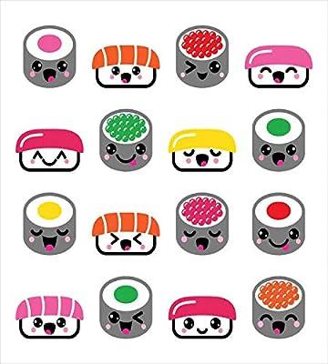 ABAKUHAUS SushiFunda Nórdica, Símbolos De Sushi De Kawaii Style, 2 ...