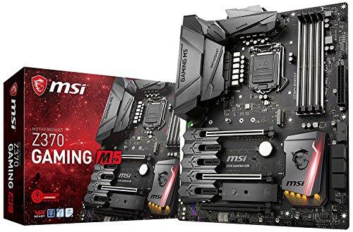 MSI Enthusiast GAMING Intel 8th Gen LGA 1151 M.2 HDMI DP USB 3.1 Gigabit LAN SLI CFX ATX Motherboard (Z370 GAMING M5)