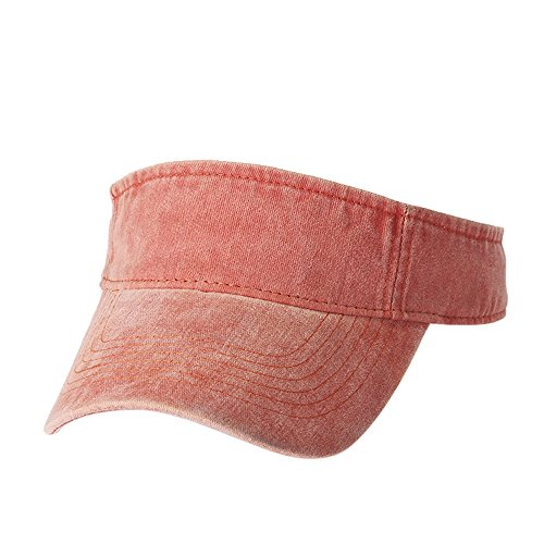 Plain Men Women Sport Sun Visor One Size Washed Twill Cotton Baseball Cap Vintage Adjustable Cap Dad Hat Orange