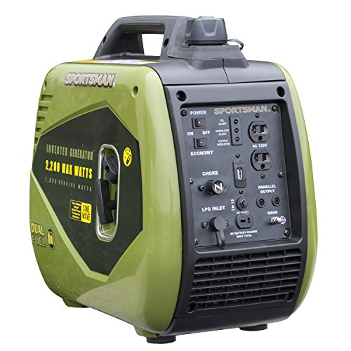Sportsman GEN2200DFI 2200 Watt Dual Fuel Inverter Generator for Sensitive Electronics
