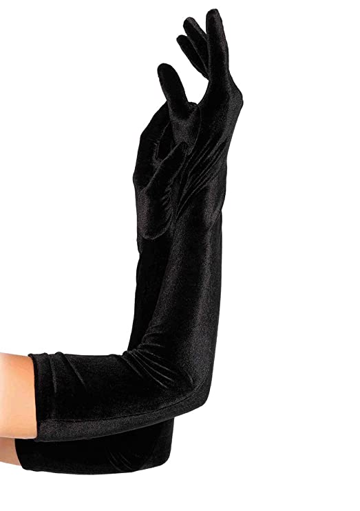 Vintage Style Gloves- Long, Wrist, Evening, Day, Leather, Lace Leg Avenue Womens Velvet Opera Length Gloves $15.75 AT vintagedancer.com