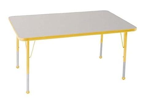ECR4Kids 30u0026quot; X 48u0026quot; Adjustable Rectangular Activity Table With  Standard Leg Ball Glide