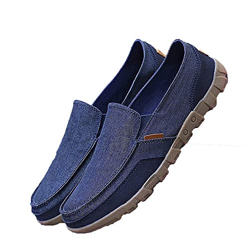 KUUI Men's high-Class Casual Shoes, Breathable Driving Shoes, Fashionable Sports Shoes Blue (Shdes Blue Of)