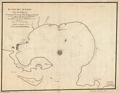 Map: 1760 Plano del puerto de Acapulco situado en la latitud de 16?47? y en la longd. de 133?30? segun el meridiano de Sn. Bernardino en Filipinas : este puerto - Www Del Mar Costa