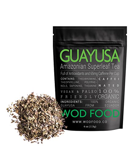 Organic Guayusa Tea, Loose Leaf Amazonian Superleaf Tea by WOD Food, Full of Antioxidants and Caffeine, Smooth non-bitter flavor, Preserves Rainforest (2 ounce) (How Do You Infuse Tea)