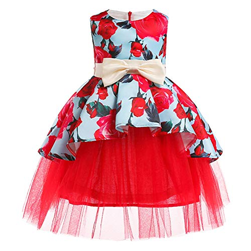 Girls Dress Summer Kids Dresses for Girl Princess Children Baby Tutu 2 3 4 5 6 7 8 9 10 Years,As Picture12,3T