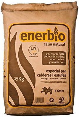 Enerbío; Saco papel de pellets 15 kg. Certificado ENPlusA1. Para ...