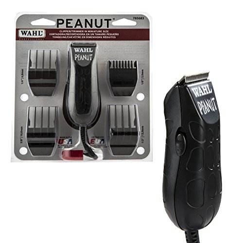 Wahl Professional Peanut Clipper/Trimmer #8655-200, Black - Great On-the-Go Trimmer for Barbers and Stylists - Powerful Rotary (Wahl Clippers And Trimmers)