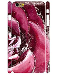 3D Print Flower Design Beautiful Rose Pattern Eco TPU Phone Dust Proof Case Skin for Iphone 6 Plus 5.5 Inch