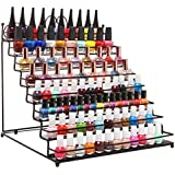 8 Tier Scrollwork Metal Nail Polish Rack / Makeup Storage Table Top Display Stand (fits 80 Bottles)