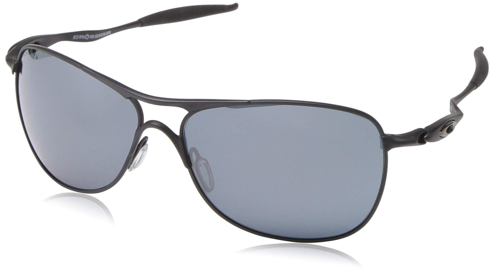 Oakley Men's OO4060 Crosshair Aviator Metal Sunglasses, Matte Black/Prizm Black, 61 mm