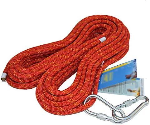 MEI XUクライミングロープ 屋外12 mmスタティックロープクライミングロープクライミングロープラペリングロープ安全ロープ高高度落下保護ロープ安全ロープ、赤、13サイズ (Size : 90M)