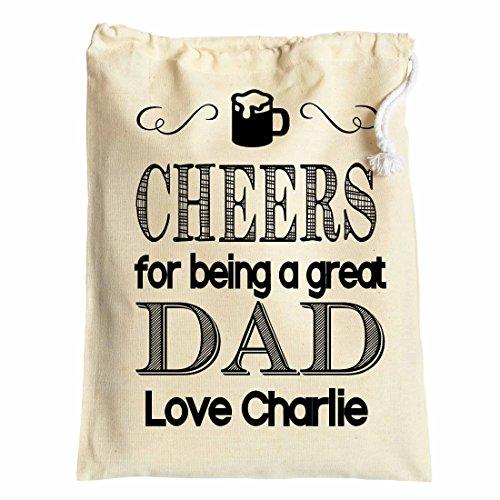 Large personalizzati, sacchetto regalo per papà on FATHER' S DAY Cheers 30cm x 40cm