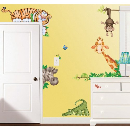 Wild Animals Wall (In The Jungle Wildlife Animal Stickers Wall Decals Children Bedroom Decor)