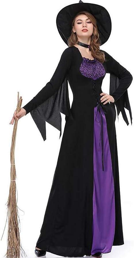 SHANGLY Halloween Navidad Bruja Disfraz Vestir Mujeres Adultas ...