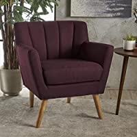 Christopher Knight Home 301455 Merel-Ckh Arm Chair, Plum/Natural