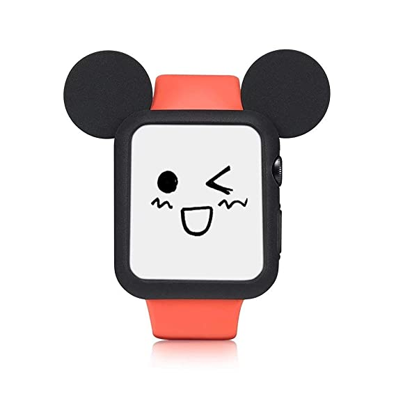060d6c6b56d Apple Watch Case 44mm, IWVX Soft Silicone Protective Case Cover Disney  Characters Mickey Mouse Ears
