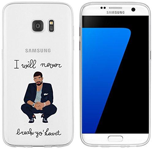 Samsung S7 Edge Caso por licaso® para el patrón de Samsung S7 Edge TPU Dark Coffee Is Good For You SW Cappuccino de silicona ultra-delgada proteger su Samsung es elegante y cubierta regalo de coches Drake Break no Heart