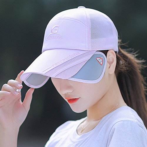 GAOQIANGFENG Chapeau Womens Summer nécessaire UPF 505 + UV Protection pare-soleil Plage dissimulations Womens Caps