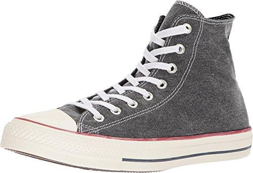Converse Unisex Chuck Taylor All Star Sneaker (6.5 Women/4.5 Men M US, Hi Top Washed Denim Black 9530)