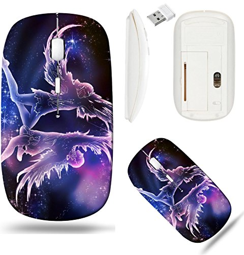 Liili Wireless Mouse White Base Travel 2.4G Wireless Mice with USB Receiver, Click with 1000 DPI for notebook, pc, laptop, computer, mac book IMAGE ID: 20395597 Gemini is an air Sign Twins are the emb