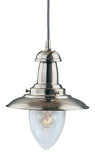 Searchlight fisherman nautical ceiling pendant 4301ab antique brass modern fishermans pendant ceiling light satin silver aloadofball Image collections