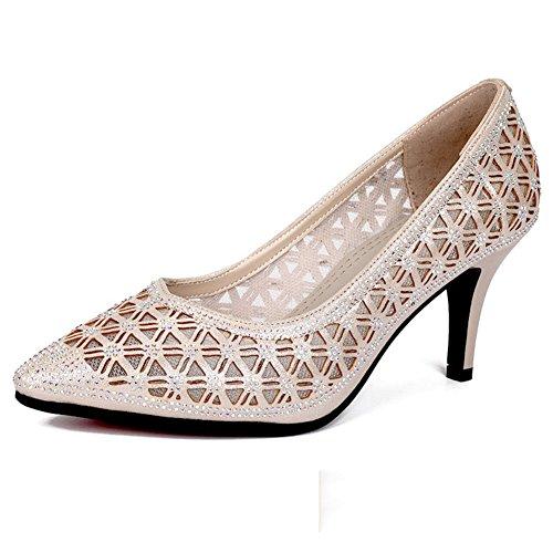 GUOSHIJITUAN Señoras Zapatos,Cuero Genuino Zapatos De Baile Tacones Fondo Blando Zapatos De Baile De Salón Sandalias De Baile A