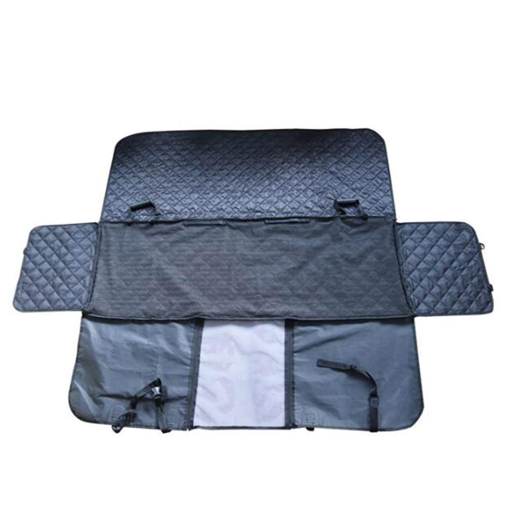 Pet Car Seat Cover with Zipper for Cars, Trucks and SUVs Black, Waterproof and Non-Slip Support