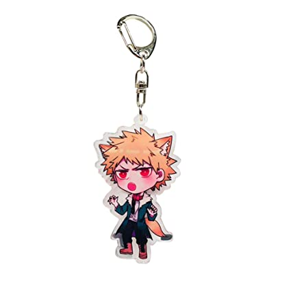Raleighsee My Hero Academia Animation Around Transparent Double-Sided  Acrylic Keychain Collectible Key Ring Bag Novelty Accessory Anime Cartoon