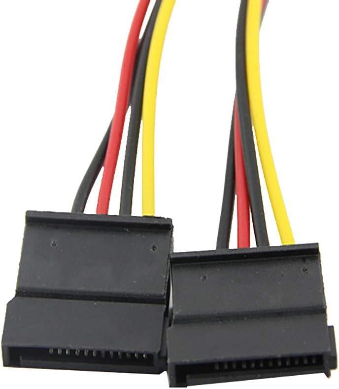 4Pin IDE to 2 Serial ATA Hard Drive SATA Power Adapter Cable NEW