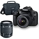 Canon EOS 1500D/Rebel T7 DSLR Camera with EF-S 18-55mm f/3.5-5.6 IS II Lens + Buzz Novice Bundle (International Version)