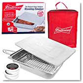 Budweiser Stovetop Smoker - The Original Stainless Steel Smoker with Wood Chips - Works over any heat source, indoor or outdoor