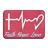 Faith Hope Love Antiskid Indoor Floor Mat Shoe Scraper Mat