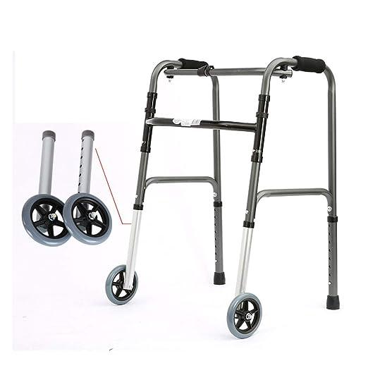 SXXDERTY-Walker Andador geriátrico de Servicio Pesado Plegable con ...