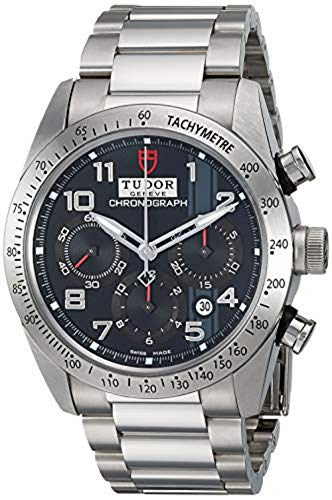 Tudor Fastrider Chronograph Black Dial Stainless Steel Mens Watch 42000-95730