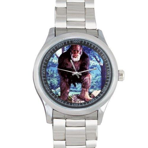 Bigfoot impresión de los hombres de acero inoxidable reloj de pulsera: Amazon.es: Relojes