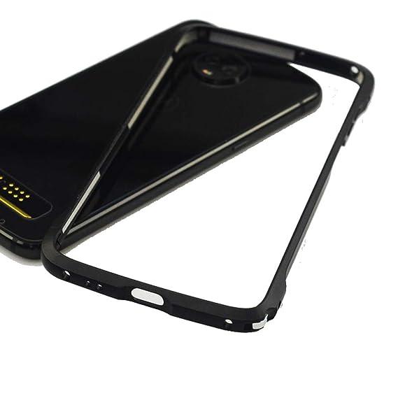 info for 15e2b 9b13c Moto Z3 Play Case,Bumper Compatible Moto Mods Dngn Luxury [Aluminum Alloy  Frame Cover] [4 Corner Shockproof Design] for Motorola Moto Z3 Play (Black)