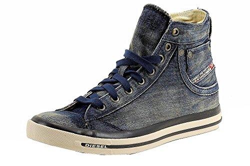Diesel Men's Exposure I Fashion High Top Sneaker Shoes (9.5, Indigo)