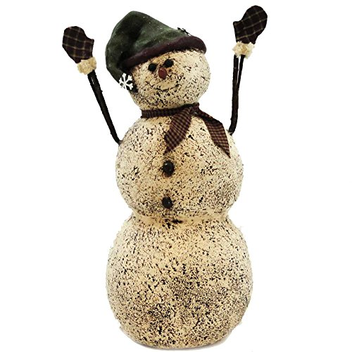 - CHRISTMAS SNOWMAN WITH TWIG ARMS Resin Salem Winter Holiday Mittens 35004