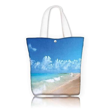 5a11b8d0cd33 Amazon.com: canvas tote bag -W23 x H14 x D7 INCH/Tote Laptop Beach ...