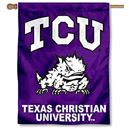 online store 6bde4 d0681 Image Unavailable. Image not available for. Color  College Flags and  Banners Co. TCU Texas Christian University Horned Frogs ...