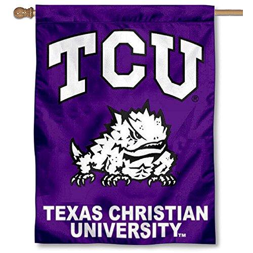 TCU Texas Christian University Horned Frogs House Flag (Texas House Flag)