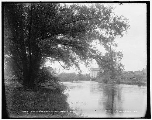 Infinite Photographs Photo: Huron River,Water Bodies,Ann Arbor,Michigan,MI,Detroit Publishing Company,c1900 (Ann Arbor In Stores Furniture)