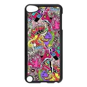 iPod Touch 5 Case Black Graffiti Custom KHJSDFUJF1595